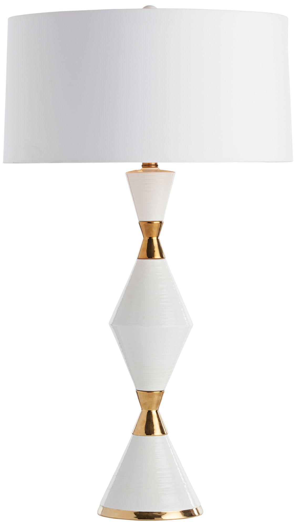 Amazing Arteriors Home Adair Gold White Cinch Waist Table Lamp