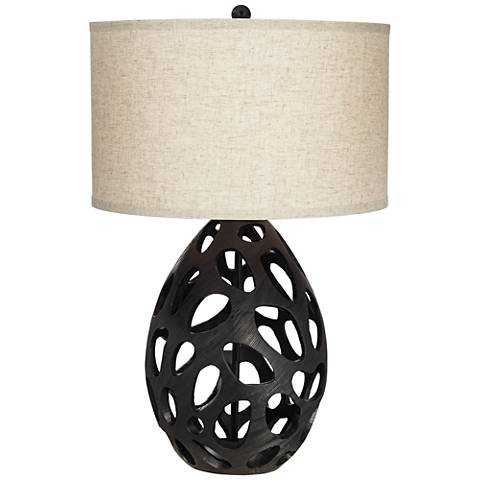 Luna Black Table Lamp