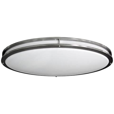 "Nickel Oval 32 1/2"" Wide 4707 Lumen LED Ceiling Light"