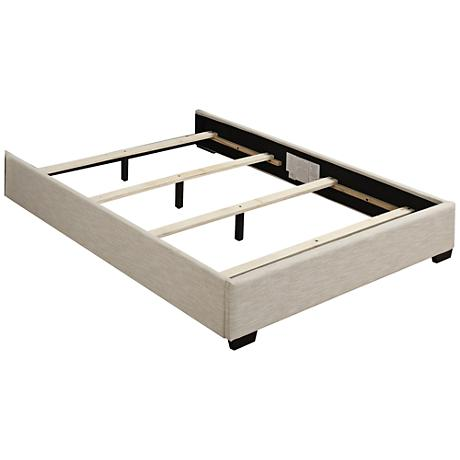 Shelter Neutral Fabric Queen Footboard with Rails