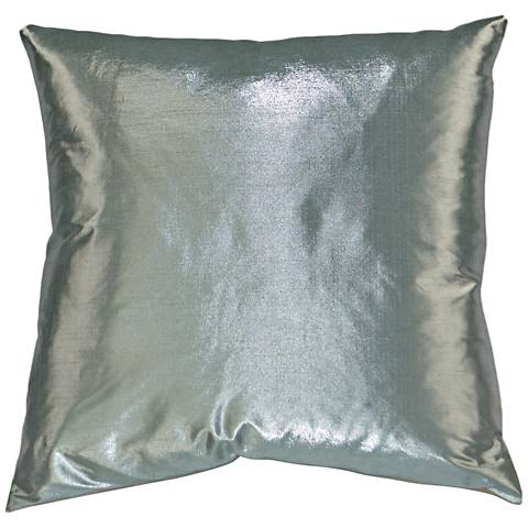 "Metaux Mist 24"" Square Decorative Throw Pillow"