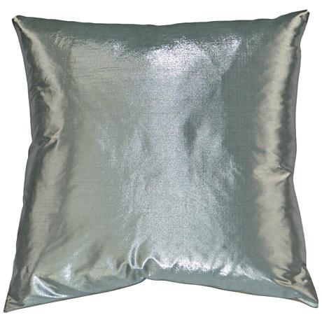 "Metaux Mist 24"" Square Decorative Throw Pillow"