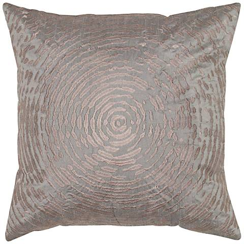 "Clara Plum Circular Abstract Motif 18"" Square Throw Pillow"