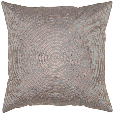 """Clara Plum Circular Abstract Motif 18"""" Square Throw Pillow"""