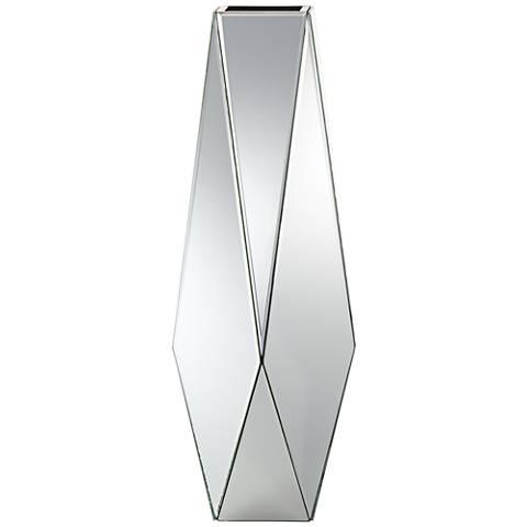 "Stellar 25"" High Geometric Mirrored Vase"