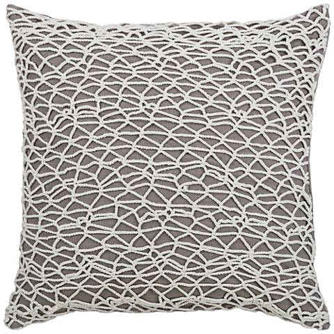 """Baffin Bay White Lace Netting 18"""" Square Throw Pillow"""