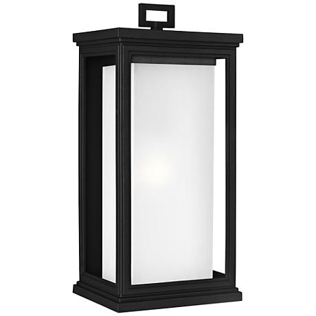 "Feiss Roscoe 18 1/4"" High Textured Black Outdoor Wall Light"