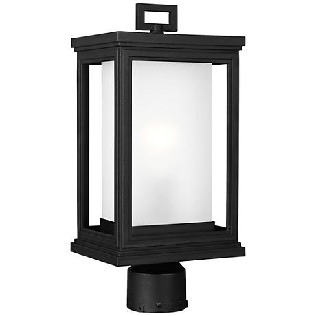 "Feiss Roscoe 16 1/2"" High Textured Black Outdoor Post Light"