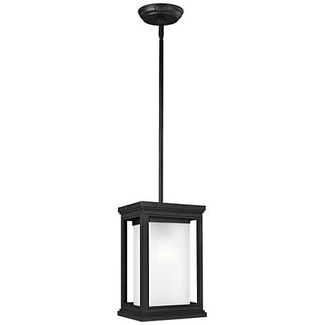 "Feiss Roscoe 12 1/4""H Textured Black Outdoor Hanging Light"