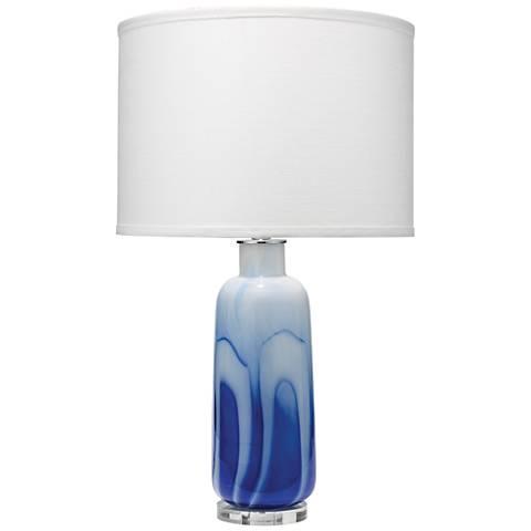 Jamie Young Atlantic Modern Blue Swirl Glass Table Lamp
