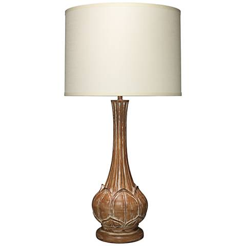 Jamie Young Belle Rustic Whitewash Floral Table Lamp