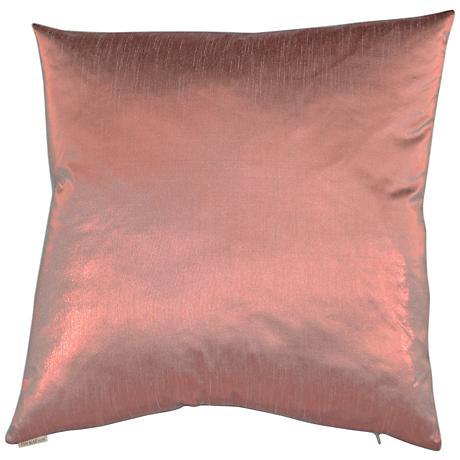 "Metaux Pink 24"" Square Decorative Throw Pillow"