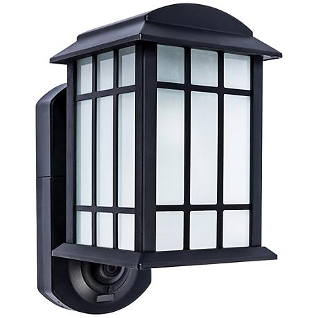 Craftsman Black Outdoor Smart Security Wall Light