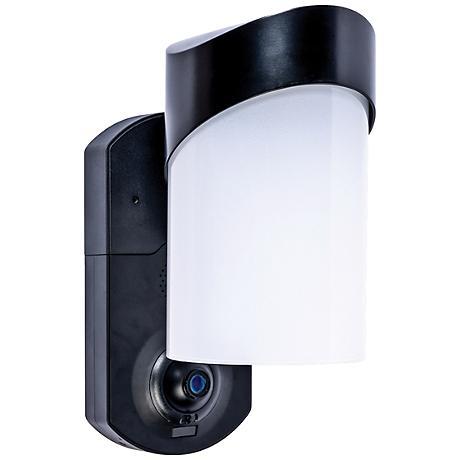 Contemporary Black Outdoor Smart Security Wall Light