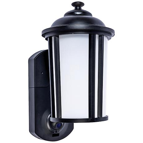 Traditional Black Outdoor Smart Security Wall Light