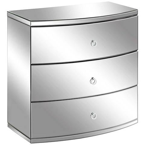 Millenium Bent Clear Mirror 3-Drawer Chest