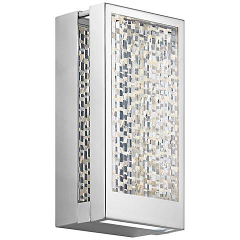 "Elan Pandora 9"" High Chrome LED Wall Sconce"