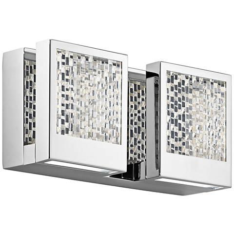 "Elan Pandora 5 1/4"" High Chrome LED Wall Sconce"