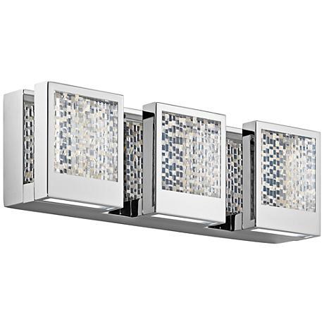 "Elan Pandora 17 1/2"" Wide Chrome LED Bath Light"
