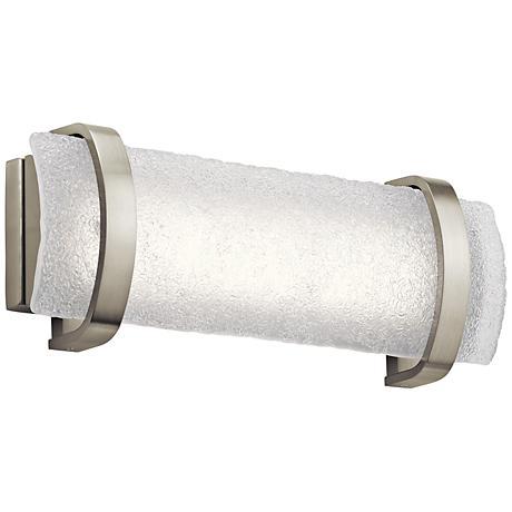 """Elan Adara 19"""" Wide Brushed Nickel LED Bath Light"""