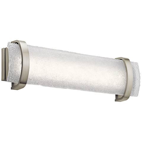 """Elan Adara 25 1/4"""" Wide Brushed Nickel LED Bath Light"""