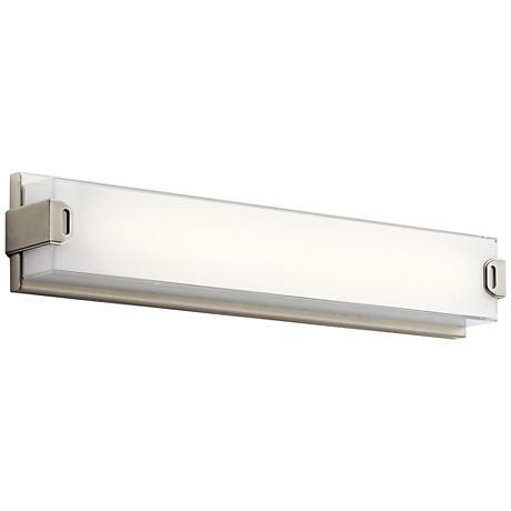 "Elan Xeo 24 1/4"" Wide Brushed Nickel LED Bath Light"