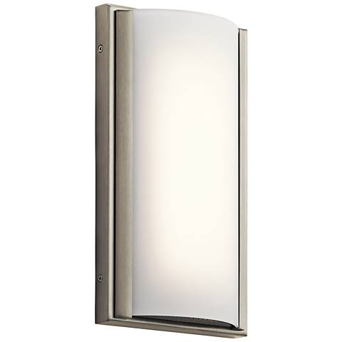 "Elan Bretto 12"" High Brushed Nickel LED Wall Sconce"