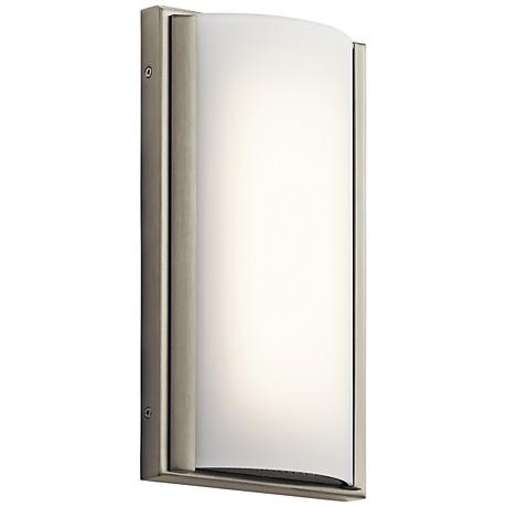 """Elan Bretto 12"""" High Brushed Nickel LED Wall Sconce"""
