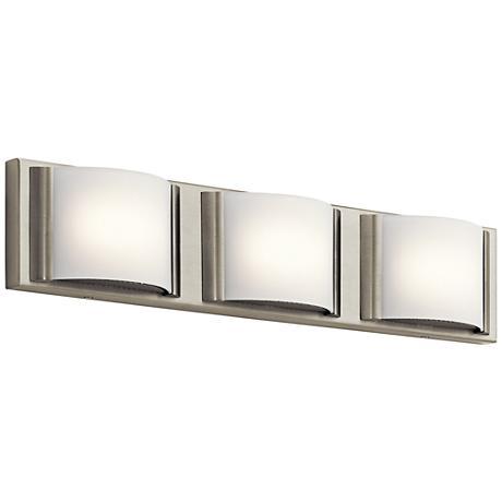 "Elan Bretto 22 1/2"" Wide Brushed Nickel LED Bath Light"