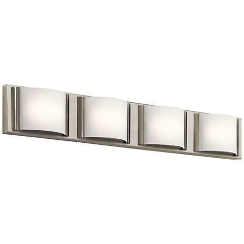 "Elan Bretto 30"" Wide Brushed Nickel LED Bath Light"