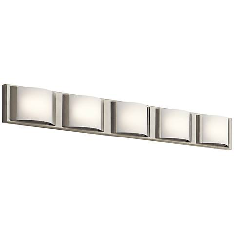 "Elan Bretto 37 1/4"" Wide Brushed Nickel LED Bath Light"