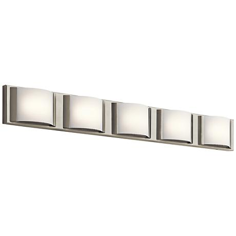 "Elan Bretto 37 1/4"" Wide Brushed Nickel LED Bath Light"