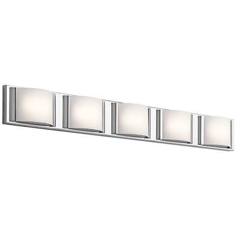"Elan Bretto 37 1/4"" Wide Chrome LED Bath Light"