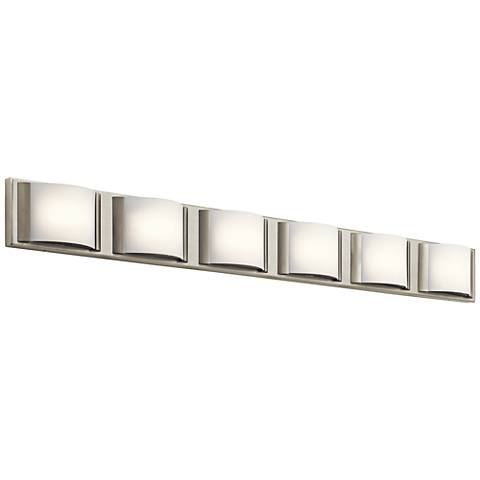 "Elan Bretto 44 3/4"" Wide Brushed Nickel LED Bath Light"