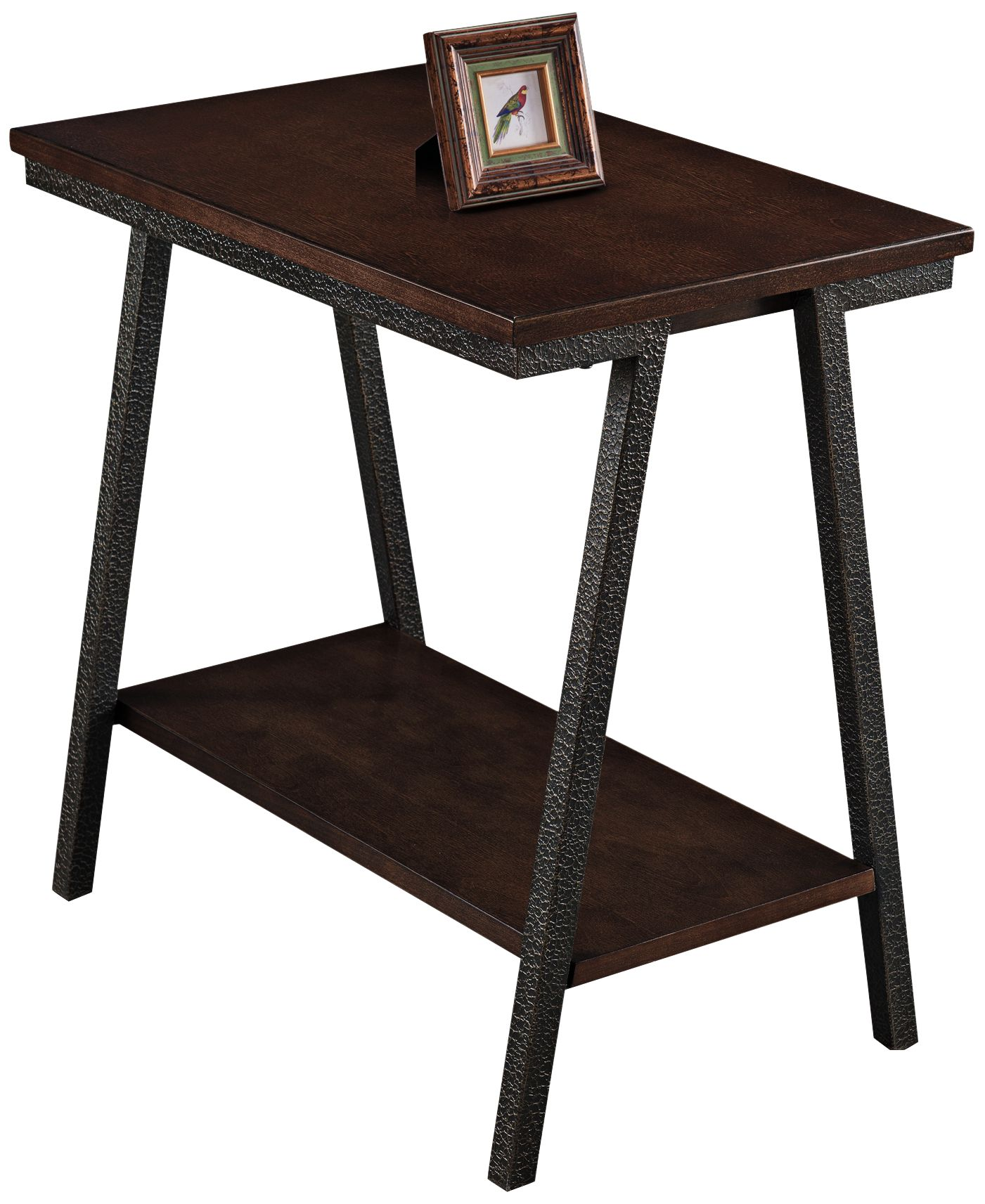 Leick Empiria Hand Finished Walnut Narrow Chairside Table