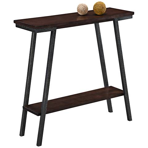 Leick Empiria Hand-Finished Walnut 1-Shelf Hall Stand