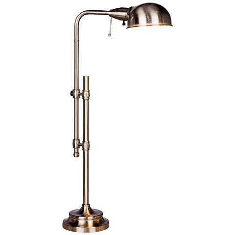 Minna Brushed Steel Adjustable Metal Desk Lamp