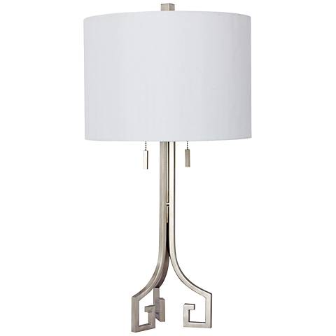Fulton Champagne Gold Metal Twin Light Table Lamp