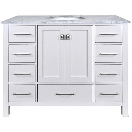 "Malibu 48"" Pure White Single Sink Bathroom Vanity"