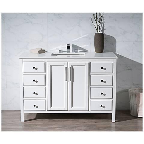 "Emily 49"" White Single Sink Bathroom Vanity"
