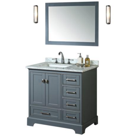 Bathroom Vanity Lights Lamps Plus : Newport 36