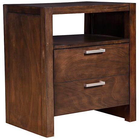 Austin Modern Chestnut 1-Drawer Nightstand