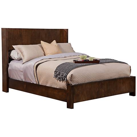 Austin Modern Chestnut Shelter Panel Bed