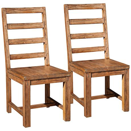 Shasta Salvaged Natural Dining Chair Set of 2