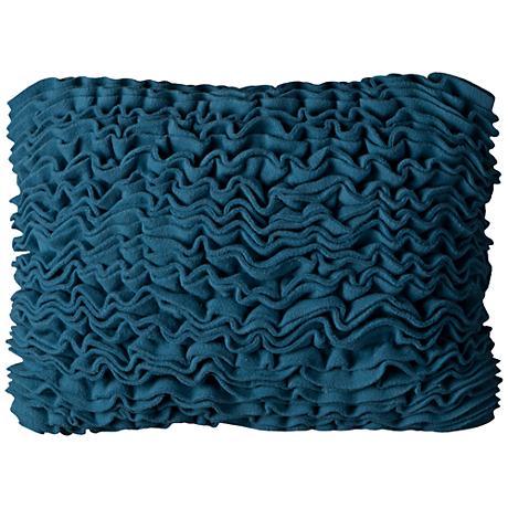 """Sammy Blue Ruffled Fleece 18"""" x 13"""" Throw Pillow"""