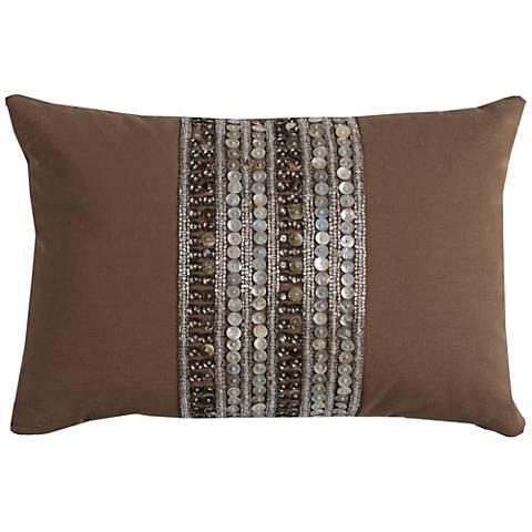 "Rachel Brown Multi-Stripe Beaded 18"" x 13"" Throw Pillow"