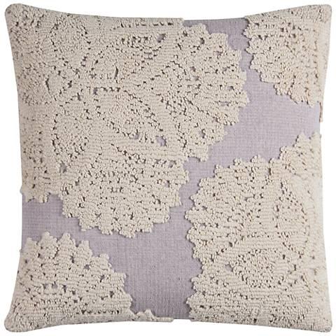 """Lizette Ivory Medallion 20"""" Square Throw Pillow"""