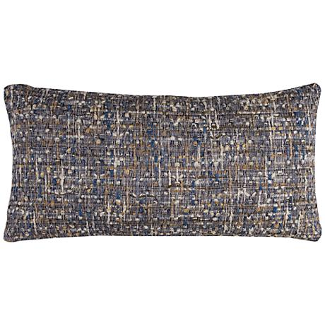 """Michelle All Over Threaded Gray 26"""" x 14"""" Throw Pillow"""