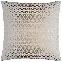 sasha white and gold foil diamond 20 square throw pillow - Designer Throw Pillow