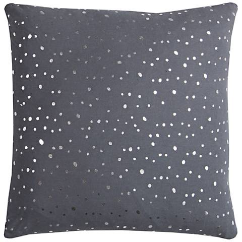 "Rachel Kate Dots Gray 20"" Square Throw Pillow"